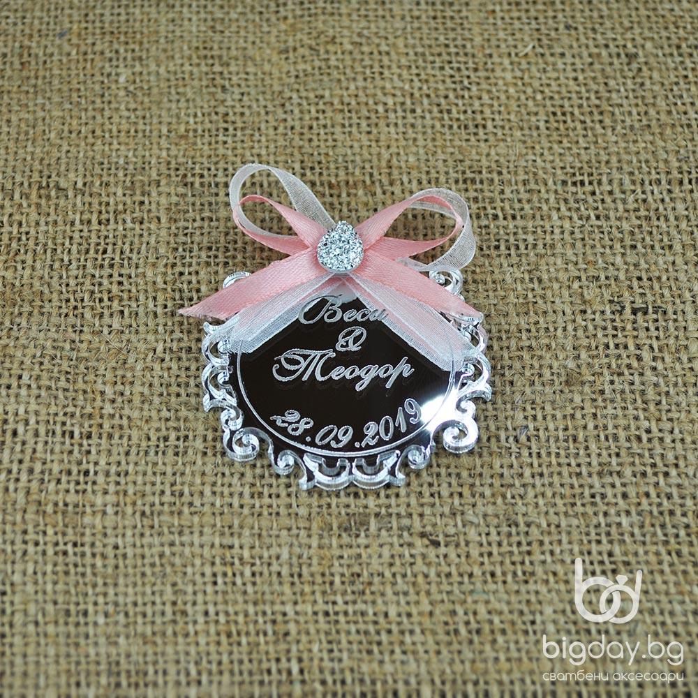 Сватбен подарък с украса и камък (1112) 6
